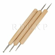 RDEXP Ball Stylus Polymer Clay Doll Sculpting Tools Set of 3