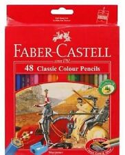 FABER CASTELL 48 Classic Color Pencils New Set of Art Drawing Free Sharpener