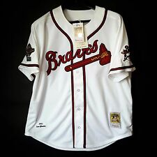 100% Authentic Tom Glavine 95 Atlanta Braves MLB Mitchell Ness Jersey Size 40 M