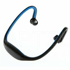 CUFFIE AURICOLARI SENZA FILI  WIRELESS BLUETOOTH MP3 SPORT BLU