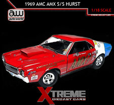 AUTOWORLD AW214 1:18 1969 AMC AMX S/S HURST NHRA PRO-STOCK RED/WHITE/BLUE
