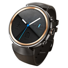 ASUS ZenWatch 3 Stainless Steel WiFi Bluetooth IP67 Rubber Strap Black