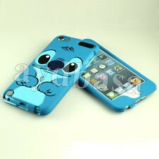 Blue Stitch Cartoon Plastic Dual Back Case & Front Cover for iPod Touch 5 5th