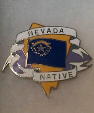 Vintage Pinback Nevada Native Lapel Pin Auction Finds 702