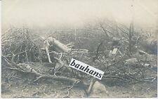 Foto-Frankreich- Ort ?(Somme) zerstörtes Geschütz/Minenwerfer 1.WK (c668)