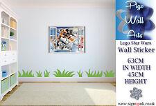 Star Wars Lego Wall Art Sticker 3d Effect Children's room décor large kids decal