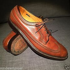 1970s Excellent Vintage FLORSHEIM IMPERIAL BROGUES Brown Sz 11 C width V wedge