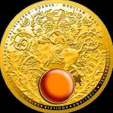 Niue Island 5$ Dollar  Amber Route   2016 Gold