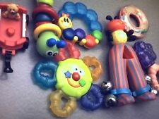 RARE 7-PIECE MATTEL FISHER PRICE BABY TODDLER PARENTS RATTLE LIKE TOYS~USE~READ