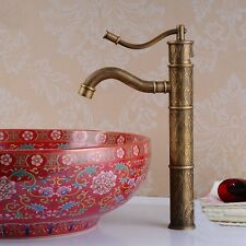 Deck Mounted Bathroom Basin Sink Faucet Antique Brass Kitchen Sink Mixer Tap