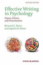 Effective Writing in Psychology: Papers, Posters,and Presentations, Beins, Agath