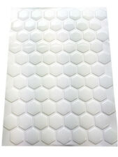 Design your own 3D White Gel Tank Pad, 70 Hexagon set, Dimensions 27mm x 27mm