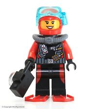 LEGO City MiniFigure: Deep Sea Explorers - Scuba Diver (Female w/ Flippers)
