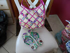 Vera Bradley Viva La Vera Woven Shoulder bag and flip flops