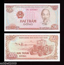 Vietnam 200 Dong 1987 P-100a Mint UNC Uncirculated Banknotes