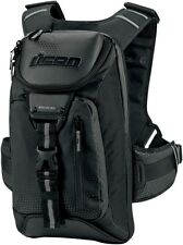 NEW ICON SQUAD 3 MOTORCYCLE BACKPACK BLACK FREE SHIPPING SAVE $$$