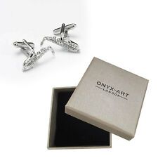 Mens Silver Saxophone Musician Cufflinks & Gift Box By Onyx Art