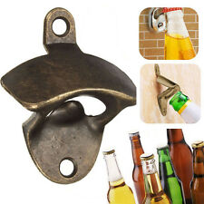 1 * Bronze Wall Mounted Open Wine Beer Soda Glass Cap Bottle Opener Kitchen Bar