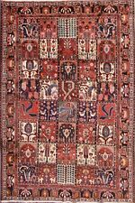 Clearance Animal Pictorial Checked 7x11 Bakhtiari Persian Oriental Area Rug Wool