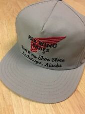 NWOT Red Wing Shoes Embroidered Snap Back Trucker Cap Anchorage AK Made In USA