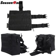 Airsoft Hunting Army Tactical Drop Leg Pouch Panel Utility Thigh Holster Bag Bk