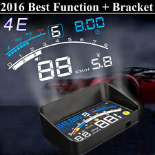 "4E 5.5"" Car HUD Head Up Display OBD II 2 Speed Warning System Fuel Consumption"