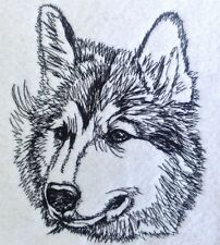 Completed Embroidery Siberian Husky Dog 2