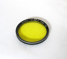 Vintage Kenko Bay II Yellow Lens Filter For Rolleiflex 3.5F, 3.5E Cameras