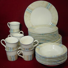 NORITAKE china MARBLE CANYON 9418 pattern 40-pc SET SERVICE for EIGHT (8)