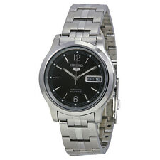 Seiko 5 Automatic Black Dial Stainless Steel Mens Watch SNK799