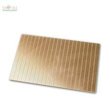 Kupfer-Platine 160x100mm Lochraster Punkt-Ketten-Reihen RM 2,54mm, Kupferplatine