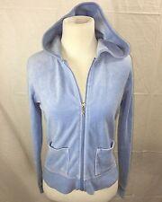 90s Rampage Velour Hoodie Womens Vintage Velvet Blue M Small Jacket Vetements