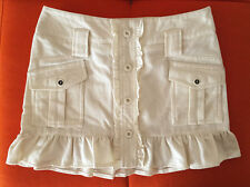 mini gonna lana Zara ? bianco donna sz S tg 40 wool women white babydoll skirt