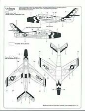 Warbird Decals F-84F Thunderstreak, USAF Thunderbirds, Decals 1/48 010