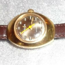 vintage womens Bulova automatic mechanical wristwatch running