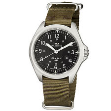 Glycine Men's 3943.19AT.TB2 Combat 7 Vintage Automatic Nylon Green Strap Watch