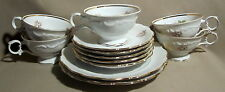 Schumann Briar Rose Lot of 5 Cup & Saucer Sets + 2 Salad Plates