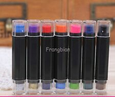 Set of 7 Colourful Mini Ink Pad Pen Double Colour Rubber Stamp InkPad Craft