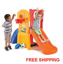 Step2 Play Slide Kids Climber Sports Outdoor Basketball Play Allstar Hoop NEW