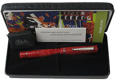 DELTA EUROPA 20TH ANNIVERSARY RED FOUNTAIN PEN MEDIUM 18K PT NEW IN ORIGINAL BOX