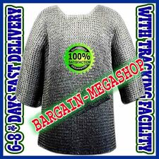 Round Riveted w/ Flat Washer Chain Mail Hauberk Large Size Chainmail Shirt D51