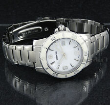 WENGER WOMEN SWISS MADE CERAMIC BEZEL SAPPHIRE 32mm SOLID STAINLESS STEEL 70384