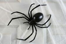 "6"" Black Widow Spider Fake Halloween Big Large Web Decor Prop Plastic Rubber NEW"