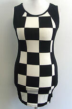 Black & White Bodycon Mini Dress M / L box7376 Q