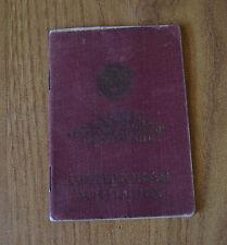 LIBRETTO SOLDATO RUSSO LASCIAPASSARE OCCUPAZIONE BERLINO 1946 ARMATA ROSSA