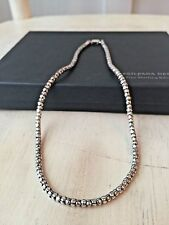 "SILPADA .925 Sterling Silver Popcorn Chain Necklace 17"" Retired N1106 w/ Sil BOX"