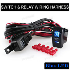 Universal Auto INTERIOR LIGHTS Switch LED 5 Pins Boat Relay Wiring Harness Kit