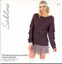 The Second Lustrous Extrafine Merino DK Book - Sublime Knitting Pattern Book 664