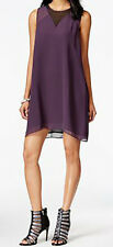 BCBGeneration New Sheer Inset Trapeze Dress Size S MSRP $98 #DN 677