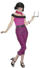 Grease 50's Pink Leopard Outfit Adult Costume Small